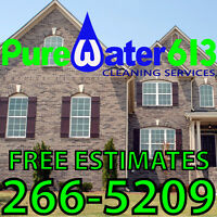WINDOW CLEANING / SIDING WASHING - FREE ESTIMATES - INSURED