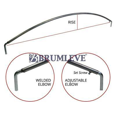 Brumleve Standard Steel Tarp Bow With Elbows 84-100 Inch X 10 Inch Rise