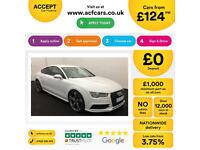 White AUDI A7 SALOON 3.0 TDI Diesel BLACK EDITION FROM £124 PER WEEK!