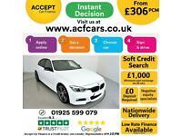 2017 WHITE BMW 320D 2.0 M SPORT DIESEL AUTO 4DR SALOON CAR FINANCE FR £306 PCM