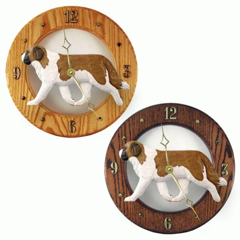 Saint Bernard Wood Clock