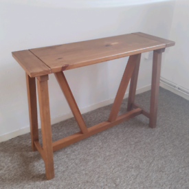 Stylish Slim Wooden Console Table TV Unit Display