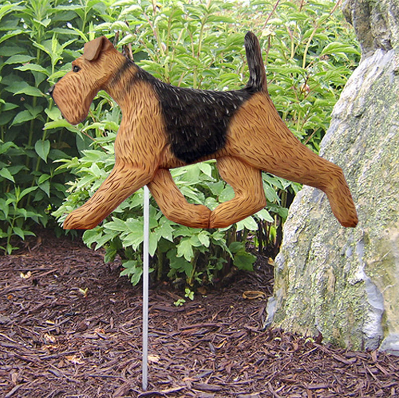 Airedale Outdoor Garden Dog Sign Hand Painted Figure