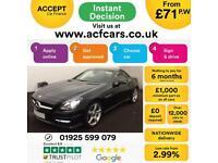 2015 BLACK MERCEDES SLK200 1.8 AMG SPORT AUTO ROADSTER CAR FINANCE FR £71 PW