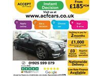 2012 BLACK MERCEDES C220 2.1 CDI AMG SPORT PLUS SALOON CAR FINANCE FR £185 PCM