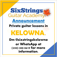 Professional guitar lessons in the Okanagan region