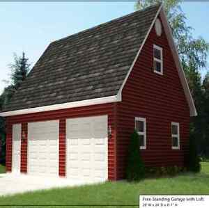 28' x 24' Garage With Loft, Package  Fully Installed
