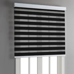 """Blinds - Day and Night Roller Blind - 36""""x84"""" - Black"""