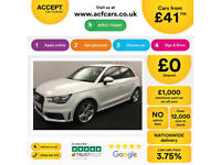 WHITE AUDI A1 SPORTBACK 1.6 2.0 TDI SPORT S LINE BLACK EDITION £41 PER WEEK