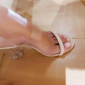 Woman's well worn high heels