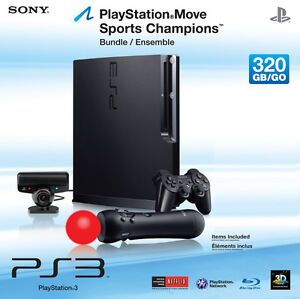 Sony Play Station 3 Slim PS3 320GB deluxe MOVE package