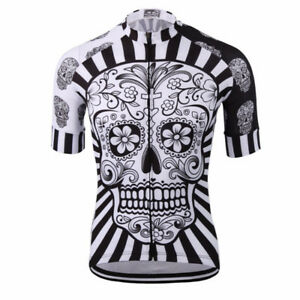 Bike skull jersey L and XL/ Velo bicyclette maillot tête de mort