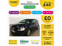 VOLKSWAGEN GOLF1.4 TSI MATCH SE 1.6 1.9 2.0 TDI SPORT GTD GTI FROM £45 PER WEEK