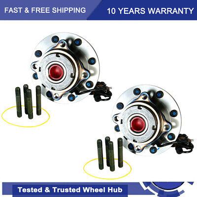 2x Front Wheel Hub & Bearing for 4x4 Ford F-550 F-450 F-350 F-250 Super Duty DRW
