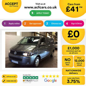 Volkswagen Transporter FROM £41 PER WEEK!