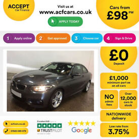 Grey BMW 220d M Sport Coupe AUTO 190bhp 2015 FROM £98 PER WEEK!