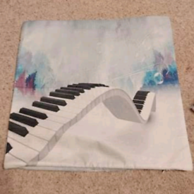 Piano themed cushion cover