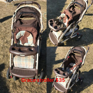 Baby stuff on sale—baby crib, stroller, baby toys!