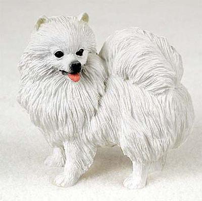 American Eskimo Miniature Hand Painted Collectible Dog Figurine