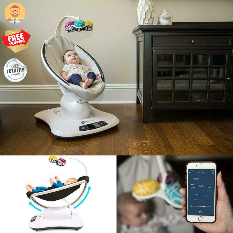 Infant Reclining Seat Rocker Bouncer Swing Adjustable,5 Uniq