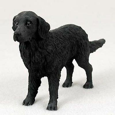 Flat Coated Retriever Hand Painted Collectible Dog Figurine Statue