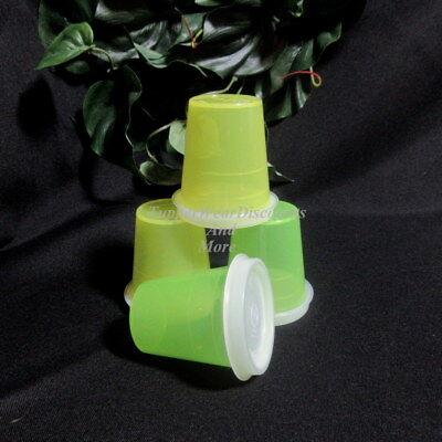 Tupperware New 4 Margarita & Green Midgets Minis Small Conta