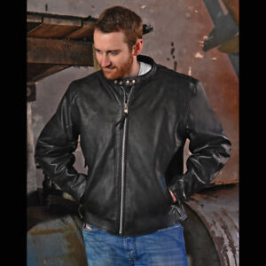 NEW w/ Tags on.  Interstate Leather Men's Motorcycle Jacket (Med
