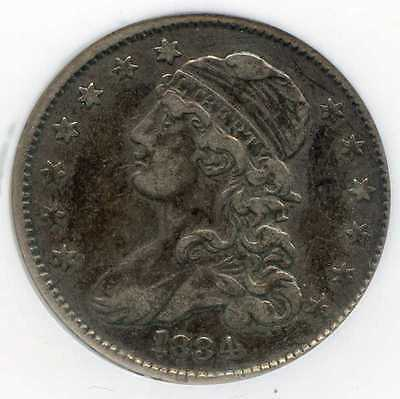 1834 25C Capped Bust Silver Quarter. Circulated. Lot #2366