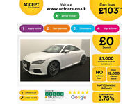 White AUDI TT COUPE 1.8 2.0 TFSI Petrol S LINE FROM £103 PER WEEK!