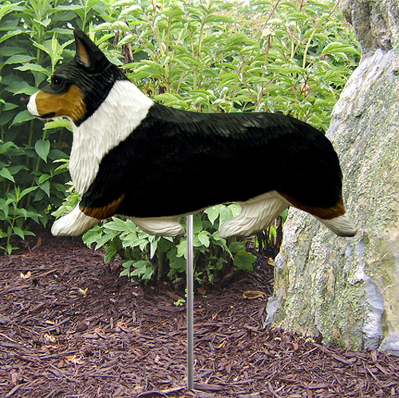 Welsh Corgi Pembroke Outdoor Garden Dog Sign Hand Painted Figure Tri