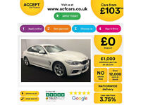 White BMW 420d M Sport Coupe Leather Auto FROM £103 PER WEEK!