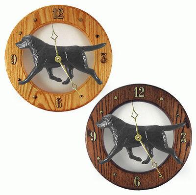 Black Labrador Wood Clock