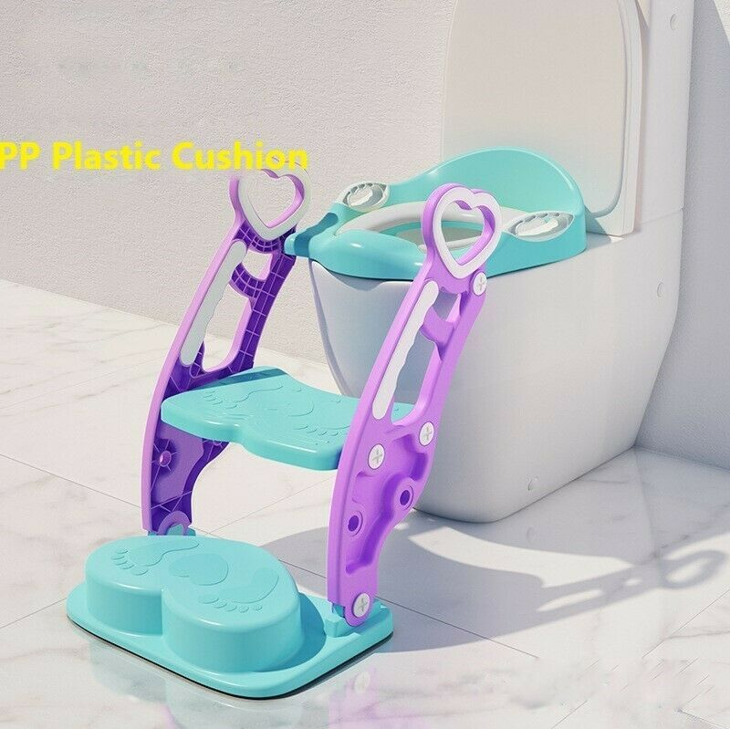 Kids Potty Training Seat Toilet Chair with Step Stool Ladder