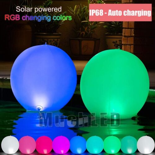 Floating Pool Light 14 Inch Solar Powered RGB COLOR AUTO CHA