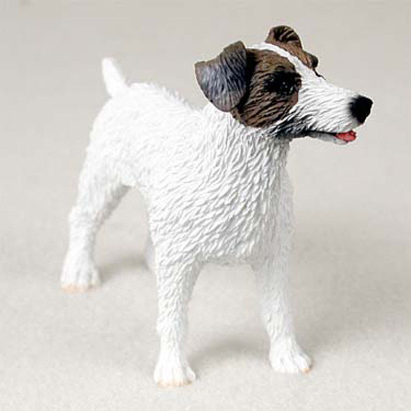 Jack Russell Terrier Figurine Hand Painted Collectible Statue Brown Rough