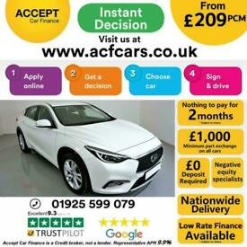 image for 2017 WHITE INFINTI Q30 1.5 D SE DIESEL MANUAL HATCH CAR FINANCE FR £209 PCM