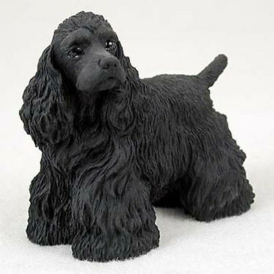 (Cocker Spaniel Figurine Hand Painted Collectible Statue Black)