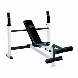Olympic Bench Press + complete weight set (plates & dumbells)