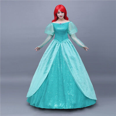 The Little Mermaid Ariel Disney Cosplay Costume Abend Kleid Kostüm Princess Neu