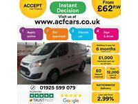 2017 WHITE FORD TRANSIT CUSTOM 2.0 TDCI TREND 290 SWB VAN CAR FINANCE FR £50 PW