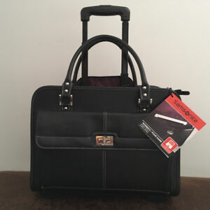 ROLLING BRIEFCASE, LUGGAGE CARRY ON AS WELL, BRAND NEW !!