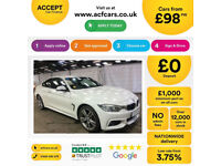 White BMW 420d M Sport Coupe Automatic 184 BHP 2014 FROM £98 PER WEEK!