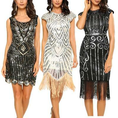 Hot Women Vintage 1920s Tassel Gatsby Flapper Fringe Dress Costume outfit I1Q9 (Gatsby Outfits Women)