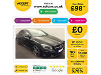 BLACK MERCEDES-BENZ CLA 220 200 180  CDI AMG LINE Coupe SPORT FROM £98 PER WEEK!