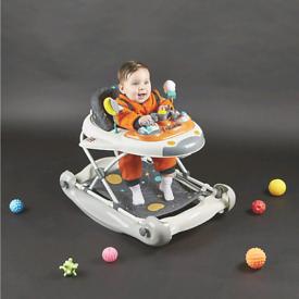Baby shuttle walker/rocker