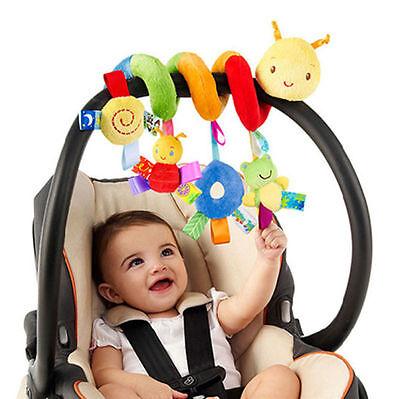Kid Mobile Crib Music Toy Baby Crib Cot Pram Ringing Bed Bell Spiral Rattles