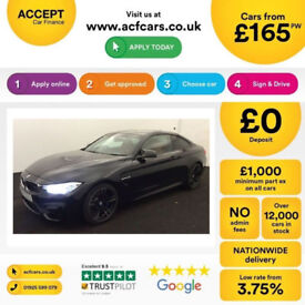 Black BMW M4 Coupe 2014 425bhp Auto Leather FROM £165 PER WEEK!