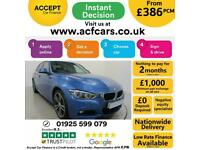 2017 BLUE BMW 335D 3.0 XDRIVE M SPORT DIESEL AUTO SALOON CAR FINANCE FR £386 PCM