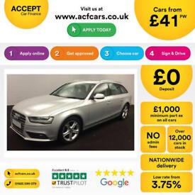 Silver AUDI A4 ESTATE 1.6 1.8 2.0 TDI Diesel SPORT Avant FROM £41 PER WEEK!