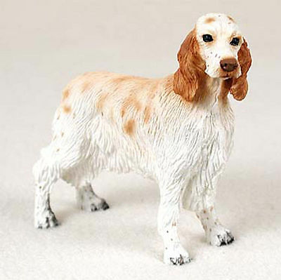 English Setter Hand Painted Collectible Dog Figurine Orange